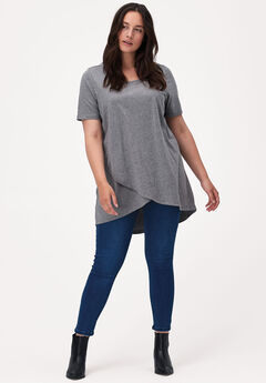 Tulip Hem Tunic by ellos®, MEDIUM HEATHER GREY, hi-res