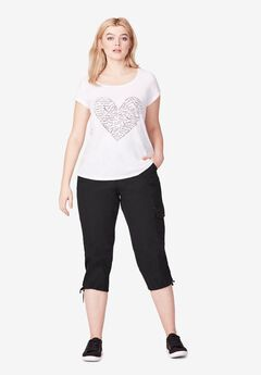 Stretch Cargo Capris by ellos®,