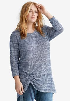 Space Dye Side-Gathered Tunic by ellos®,