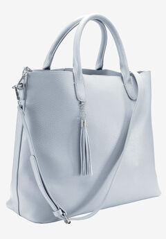 Multi-Strap Tote Bag by ellos®, PEARL GREY, hi-res