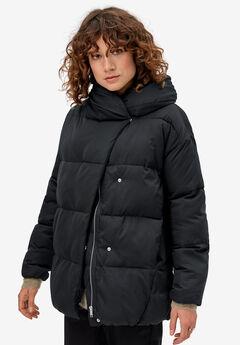 Shawl Collar Puffer Jacket by ellos®,