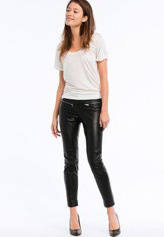 Skinny Leather Pants by ellos®, BLACK, hi-res