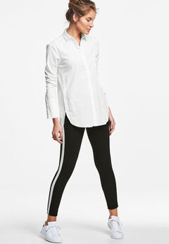 Side Stripe Ponte Leggings by ellos®,