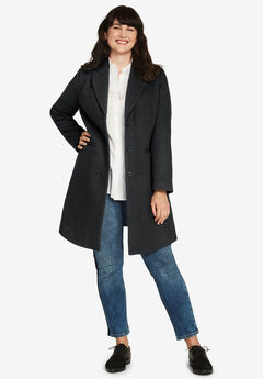 Malin Wool-Blend Coat by ellos®,