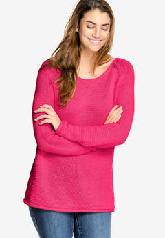 Ballet Neck Ribbon Yarn Sweater by ellos®,