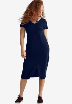 Slit-Front Knit Dress by ellos®,