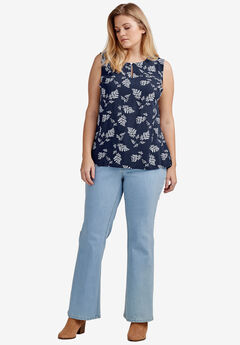 Bootcut 5-pocket Jeans by ellos®, BLEACH