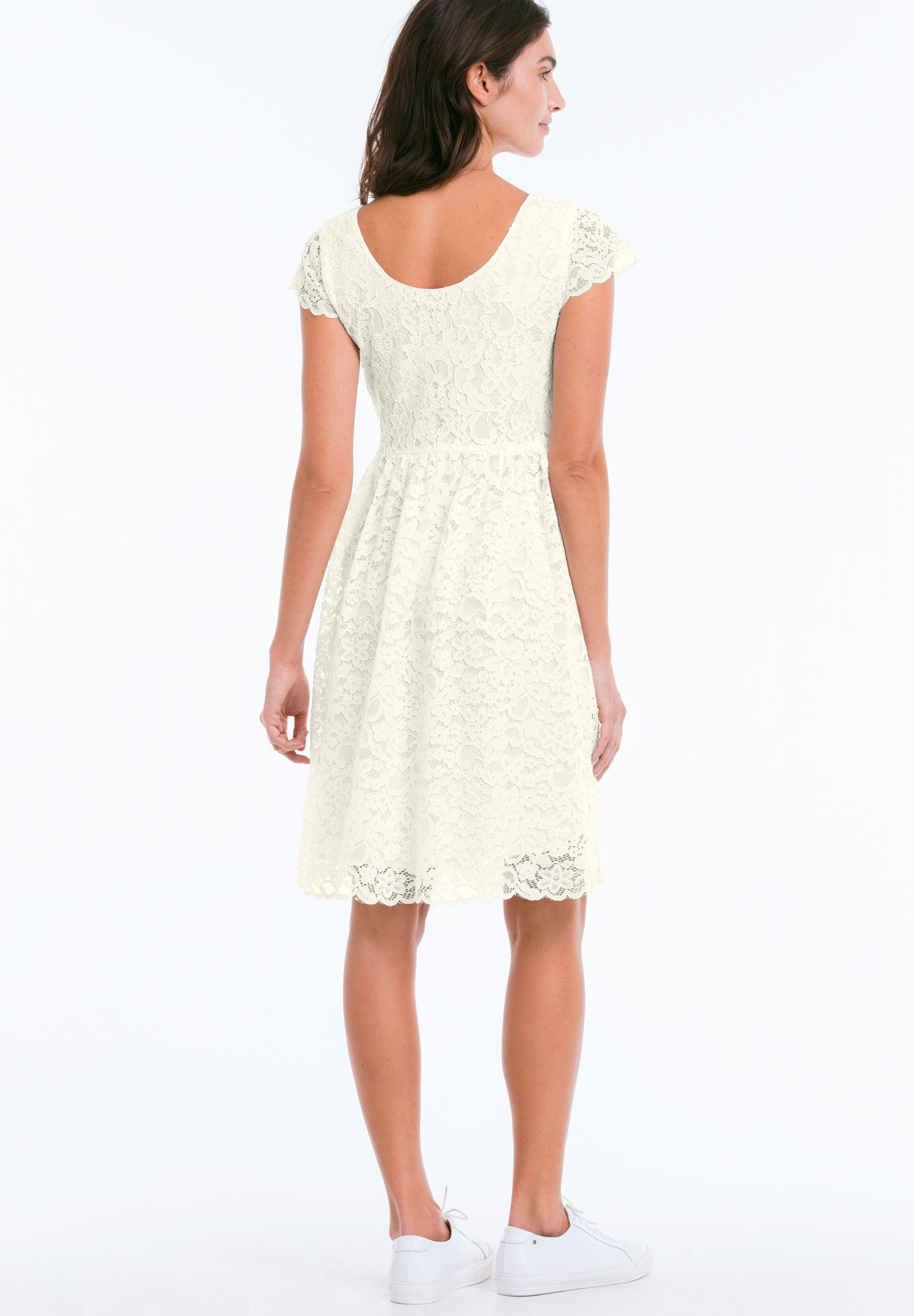 Roamans white belted dress