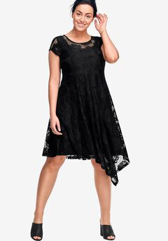 Peony Lace Dress by ellos®, BLACK, hi-res