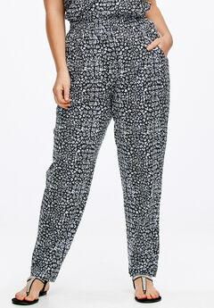 Soft Knit Elastic Waist Pants by ellos®,