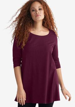 3/4 Sleeve Knit Tunic,