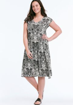 Paisley T-Shirt Dress by ellos®,