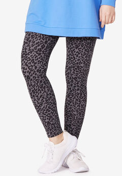 Leggings by ellos®, ANIMAL HEATHER