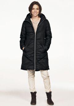Long Puffer Coat by ellos®, BLACK, hi-res