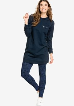 Leggings by ellos®, NAVY PAISLEY