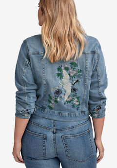Embroidered Jean Jacket by ellos®,