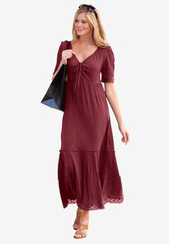 Gauze Maxi Dress by ellos®,