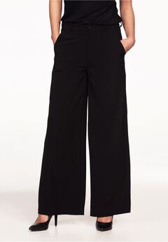 Woven Wide Leg Pants by ellos®, BLACK, hi-res