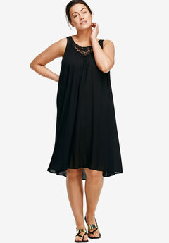 Crochet Inset Trapeze Dress by ellos®,