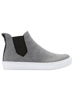 Fabric High-top Sneakers by ellos®, HEATHER GREY, hi-res