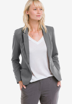Everyday Blazer by ellos®, HEATHER SLATE, hi-res