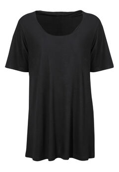 Short Sleeve A-line Tunic by ellos®, BLACK, hi-res