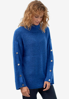 Bell-Sleeve Sweater by ellos®, DARK SAPPHIRE