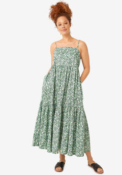 Tiered Cotton Maxi Dress,