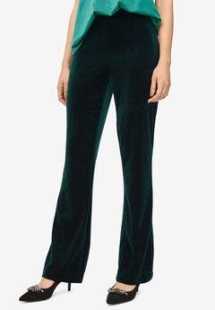 Velvet Wide Leg Pants,