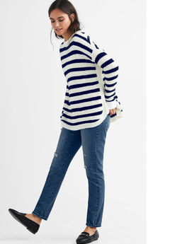 Striped Tunic Sweater,
