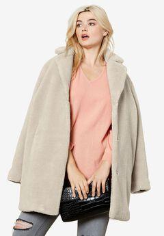 ac370e60437 Women s Plus Size Faux Fur Jackets