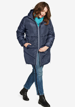 Long Puffer Coat by ellos®,