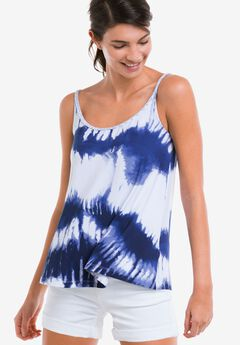 Braided Strap Tank Top by ellos®, BLUE WHITE PRINT