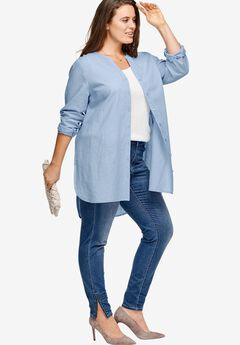 Linen-Blend Tunic by ellos®,