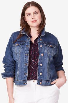 Cropped Denim Jacket by ellos®,
