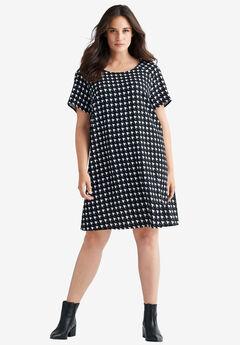 Shift Dress by ellos®, BLACK WHITE, hi-res