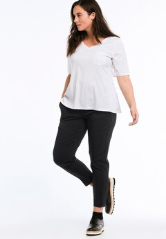 Tab Front Slim Pants by ellos®, BLACK, hi-res