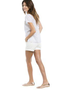 Stretch 5-Pocket Shorts by ellos®, WHITE, hi-res