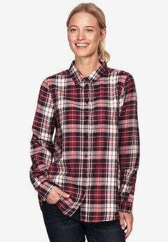 Plaid Flannel Shirt by ellos®, RED MULTI PLAID