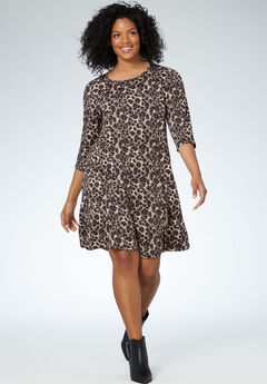 Madison Dress by ellos®, ANIMAL PRINT, hi-res