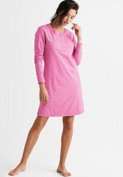 720155a95bc Long Sleeve Henley Sleepshirt by ellos®