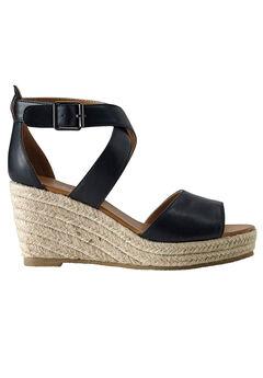 Espadrille Wedge Sandal by ellos®, BLACK, hi-res