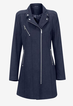 Taylor Zip Coat by Ellos®, NAVY, hi-res