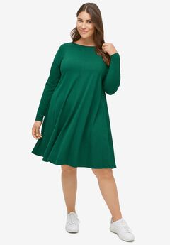Knit Trapeze Dress,