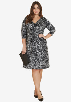 Knot Front Knit Dress by ellos®,