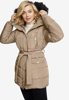 Belted Puffer Coat,