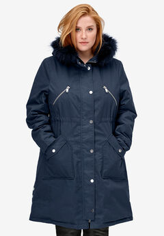 Side-Snap Zip-Front Parka by ellos®,