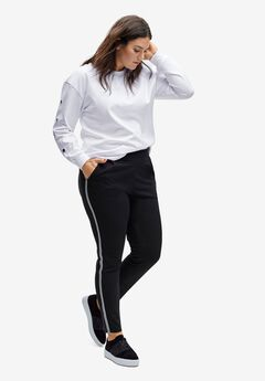 Side-Stripe Knit Pants,
