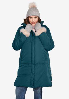 Side Snap Puffer Coat,
