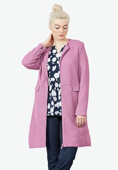 Manhattan Zip Coat by ellos®, MAUVE ORCHID, hi-res